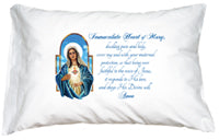 PRAYER PILLOWCASE - IMMACULATE HEART OF MARY - 143-54 - Catholic Book & Gift Store