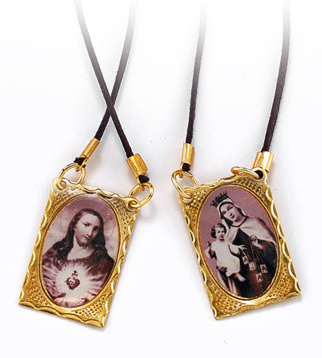 METAL SCAPULAR ON CORD - 1501 - Catholic Book & Gift Store