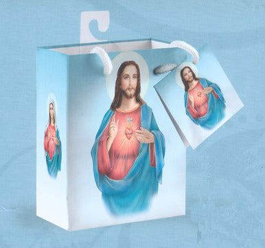 SMALL/TWIN HEARTS GIFT BAG W/TISSUE - 165-20-1006 - Catholic Book & Gift Store