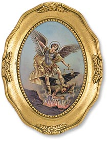 OVAL FRAMED ST MICHAEL - 167-071 - Catholic Book & Gift Store