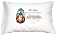 PRAYER PILLOWCASE - SACRED HEART OF JESUS - 182-41 - Catholic Book & Gift Store