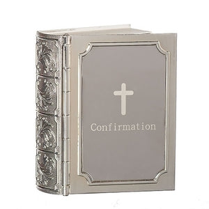 "3.5""H CONFIRMATION BIBLE KEEPSAKE BOX"