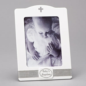 "10""H BABY BAPTISM PHOTO FRAME"