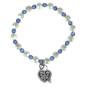 DK BLUE CHILD'S PRAYERBOX BRACELET - 20179 - Catholic Book & Gift Store