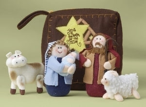 "6PC 1.5-5"" PLUSH NATIVTY FIGURES - 20967"