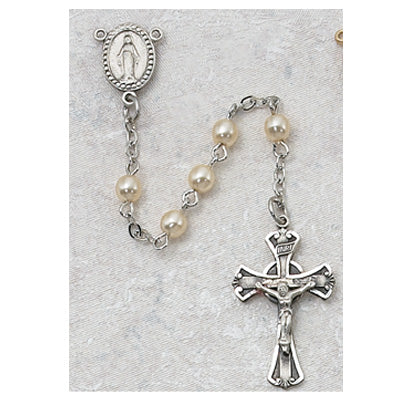3MM PEARL ROSARY - 210DG - Catholic Book & Gift Store