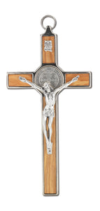 "8"" WOOD ST BENEDICT CRUCIFIX - 2143"
