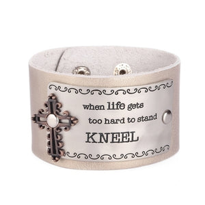 WHEN LIFE GETS TOO HARD.../LEATHER BRACELET - 21462 - Catholic Book & Gift Store