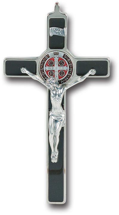 ST BENEDICT CRUCIFIX W/ENAMEL MEDAL AND LEGAND BOX - 2162 - Catholic Book & Gift Store