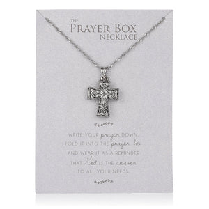 PRAYER BOX NECKLACE/CROSS SHAPED - 21987 - Catholic Book & Gift Store
