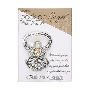 "2.5"" RHODIUM BEDSIDE ANGEL-MOM"