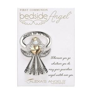 "2.5"" BEDSIDE ANGEL-1ST COMMUNION/CARDED"