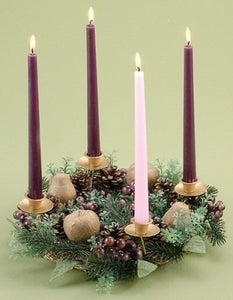 "14"" PURPLE BERRY ADVENT WREATH - 24119 - Catholic Book & Gift Store"