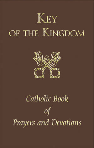 BROWN/KEY OF THE KINGDOM PRAYERBOOK - 2590-BN - Catholic Book & Gift Store