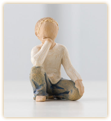 INQUISITIVE CHILD FIGURE - 26227 - Catholic Book & Gift Store