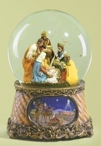 MUSICAL GLITTERDOME/NATIVITY WITH THREE KINGS - 33028 - Catholic Book & Gift Store