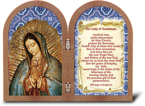 OUR LADY OF GUADALUPE STANDING DYPTYCH - 342-217 - Catholic Book & Gift Store