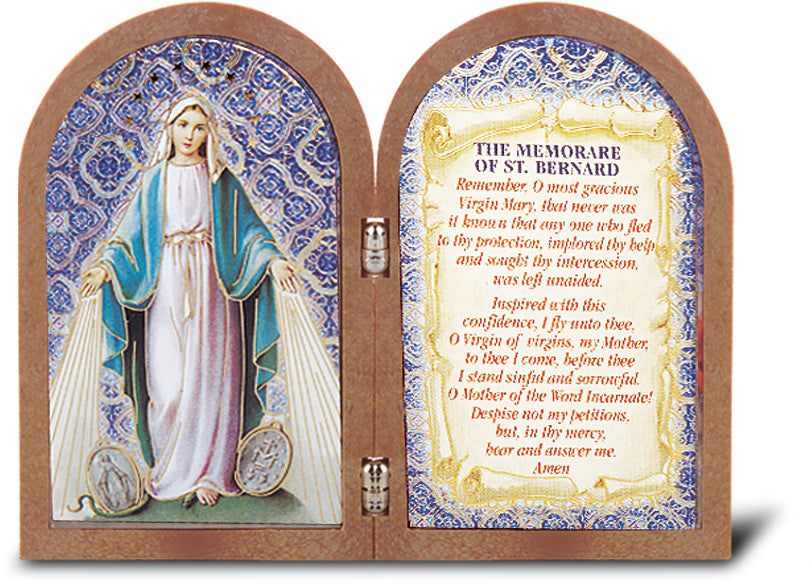 OUR LADY OF GRACE STANDING DYPTYCH - 342-253 - Catholic Book & Gift Store