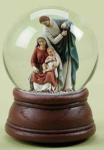 "5.5""  HOLY FAMILY GLITTERDOME - 35393 - Catholic Book & Gift Store"
