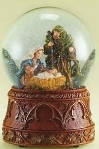 "6.75"" HOLY FAMILY GLITTERDOME - 35587 - Catholic Book & Gift Store"