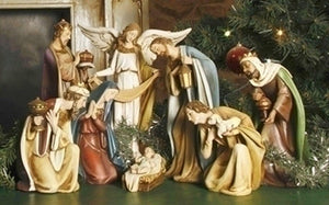 "8PC ST 12"" CERAMIC NATIVITY - 38901"