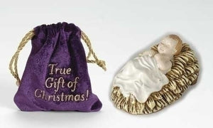"4""BABY JESUS WITH VELVET BAG - 39118J - Catholic Book & Gift Store"