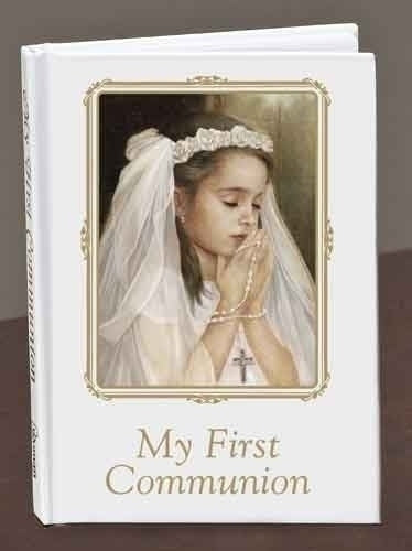 COMMUNION PRAYER BOOK/GIRL - 40009 - Catholic Book & Gift Store