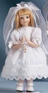 BLONDE COMMUNION DOLL - 40330 - Catholic Book & Gift Store