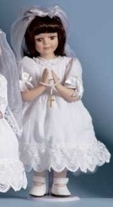 BRUNETTE COMMUNION DOLL - 40340 - Catholic Book & Gift Store