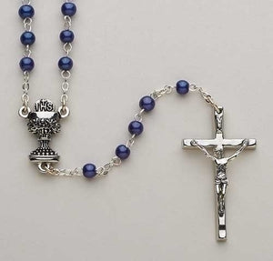 "15""L BLUE COMMUNION ROSARY - 40931 - Catholic Book & Gift Store"