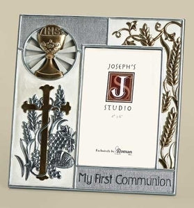 "8"" COMMUNION FRAME/HOLDS 4X6 PHOTO - 40944"
