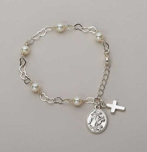 "6.5""L  COMMUNION BRACELET - 41352 - Catholic Book & Gift Store"