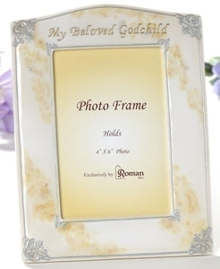 "7.5"" MARBLE FINISH GODCHILD FRAME - 41365 - Catholic Book & Gift Store"