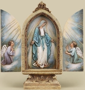 OUR LADY OF GRACE TRIPTYCH - 41439 - Catholic Book & Gift Store