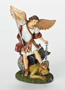 "4.25""H ST MICHAEL DASHBOARD SAINT FIGURE - 41501 - Catholic Book & Gift Store"