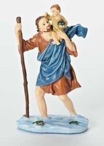 "4"" ST CHRISTOPHER DASHBOARD SAINT FIGURE - 41507 - Catholic Book & Gift Store"