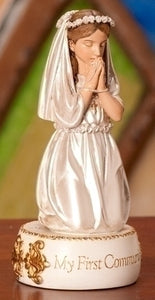 "5.5"" GIRL COMMUNION FIGURE - 41969 - Catholic Book & Gift Store"