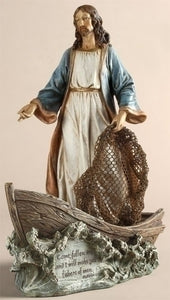 "11.25"" CHRIST THE FISHERMAN FIGURE - 42111 - Catholic Book & Gift Store"