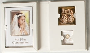 GIRL COMMUNION 4PC FOLDER SET - 42659 - Catholic Book & Gift Store