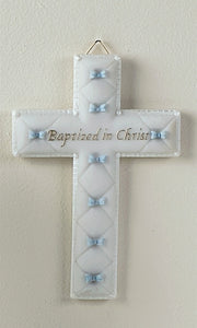 "6.5"" BAPTISM CROSS BOWS/BOY - 42828 - Catholic Book & Gift Store"