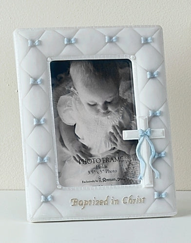 BAPTISM FRAME/BOWS/BOY - 42988 - Catholic Book & Gift Store