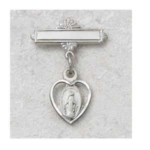 STERLING SILVER MIRACULOUS BABY PIN - 436L - Catholic Book & Gift Store