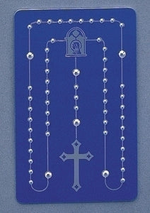 """CREDIT-CARD"" ROSARY/BLUE - 43822 - Catholic Book & Gift Store"