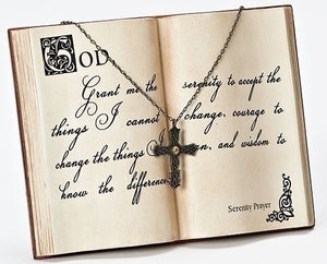 "5""H SERENITY PRAYER BOOK DESK PLAQUE - 44195 - Catholic Book & Gift Store"