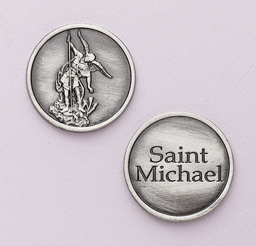 ST. MICHAEL POCKET TOKEN/CARDED WITH PRAYER - 45981 - Catholic Book & Gift Store