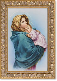 "4.5""X6.5"" FRAMED MADONNA OF STREETS - 461-203 - Catholic Book & Gift Store"