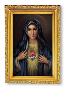 "4.5""X6.5"" FRAMED IMMACULATE HEART OF MARY - 461-215 - Catholic Book & Gift Store"