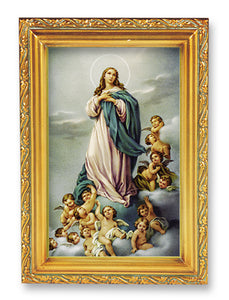 "4.5""X6.5"" FRAMED IMMACULATE CONCEPTION - 461-251 - Catholic Book & Gift Store"