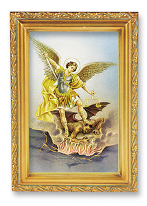 "4.5""X6.5"" FRAMED ST MICHAEL - 461-330 - Catholic Book & Gift Store"