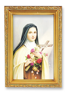 "4.5""X6.5"" FRAMED ST THERESE - 461-340 - Catholic Book & Gift Store"